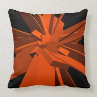 Orange Rectangles throwpillow