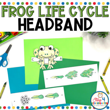 frog life cycle hat, headband