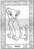 The Lion King coloring pictures of Nala, a lovely cute Disney lion character.