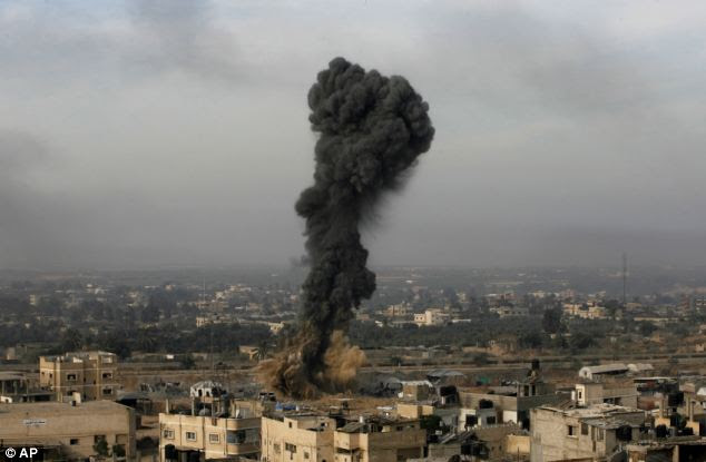 Israel was targeting smuggling tunnels along the border between Egypt and Rafah southern Gaza Strip