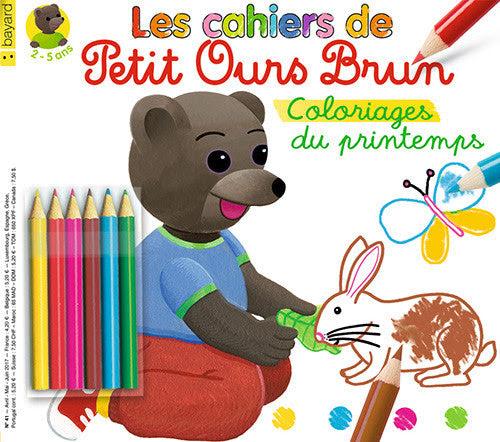Les Cahiers De Petit Ours Brun Coloriages Du Printemps Bayard