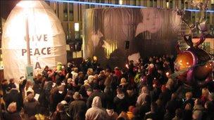 John Lennon vigil in Liverpool