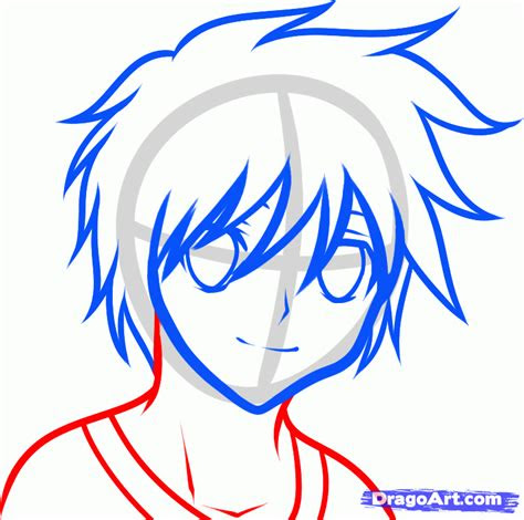 draw  anime boy  kids step  step drawing sheets