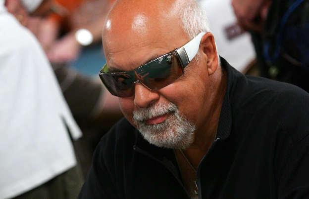 René Angélil lors d'un tournoi de poker au Rio Hotel & Casino de Las Vegas le 31 juillet 2006.