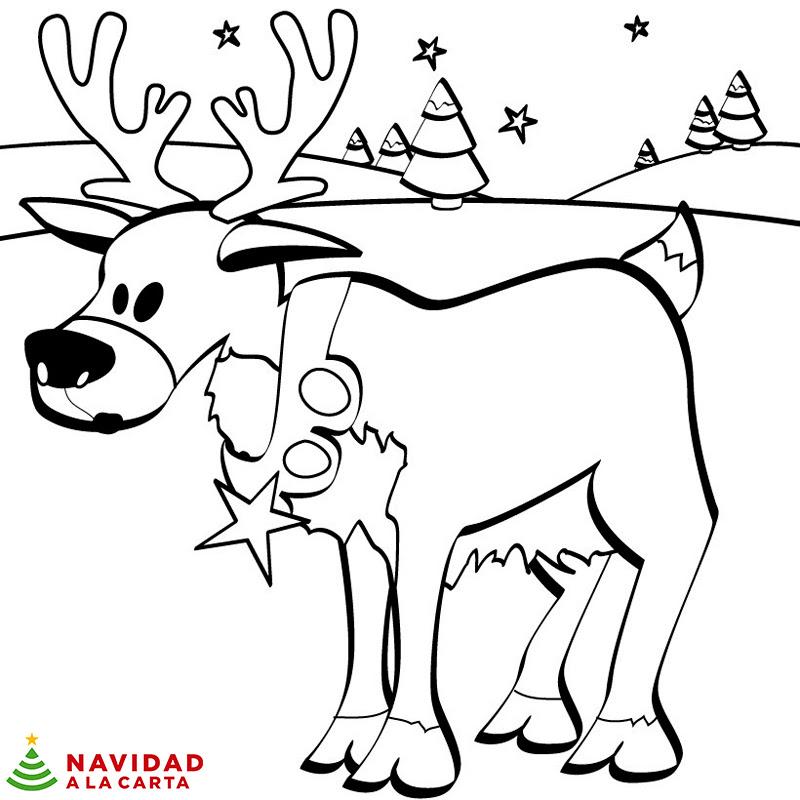 10 Dibujos De Navidad Para Colorear Navidad A La Carta
