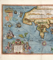 Image: detail of a Chart of the English Channel, created by Lucas Jansz Wagenaer, 1584. Repro ID: F0351. Copyright: National Maritime Museum, Greenwich, London