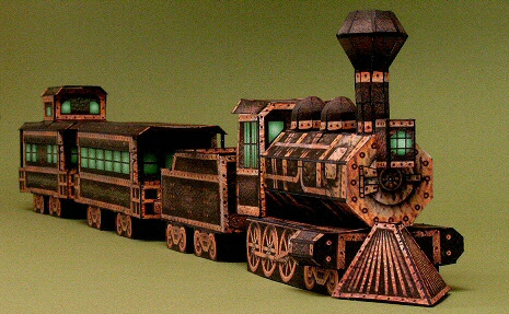 The Ghost Train Papercraft