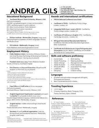 Resume Format: Two Column Resume Templates