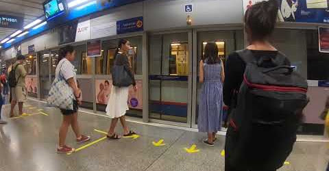 Du lịch tự túc Thái Lan tự túc giá rẻ|| Trải nghiệm tàu điện ngầm MRT