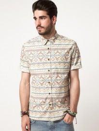 Asos Short Sleeve Aztec Shirt