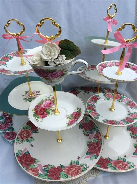 WEDDING CHINA 3 TIER CAKE STANDS Tiered Serving Tray