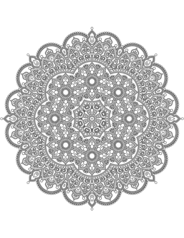 Difficult Mandala Coloring Page Free Printable Coloring Pages