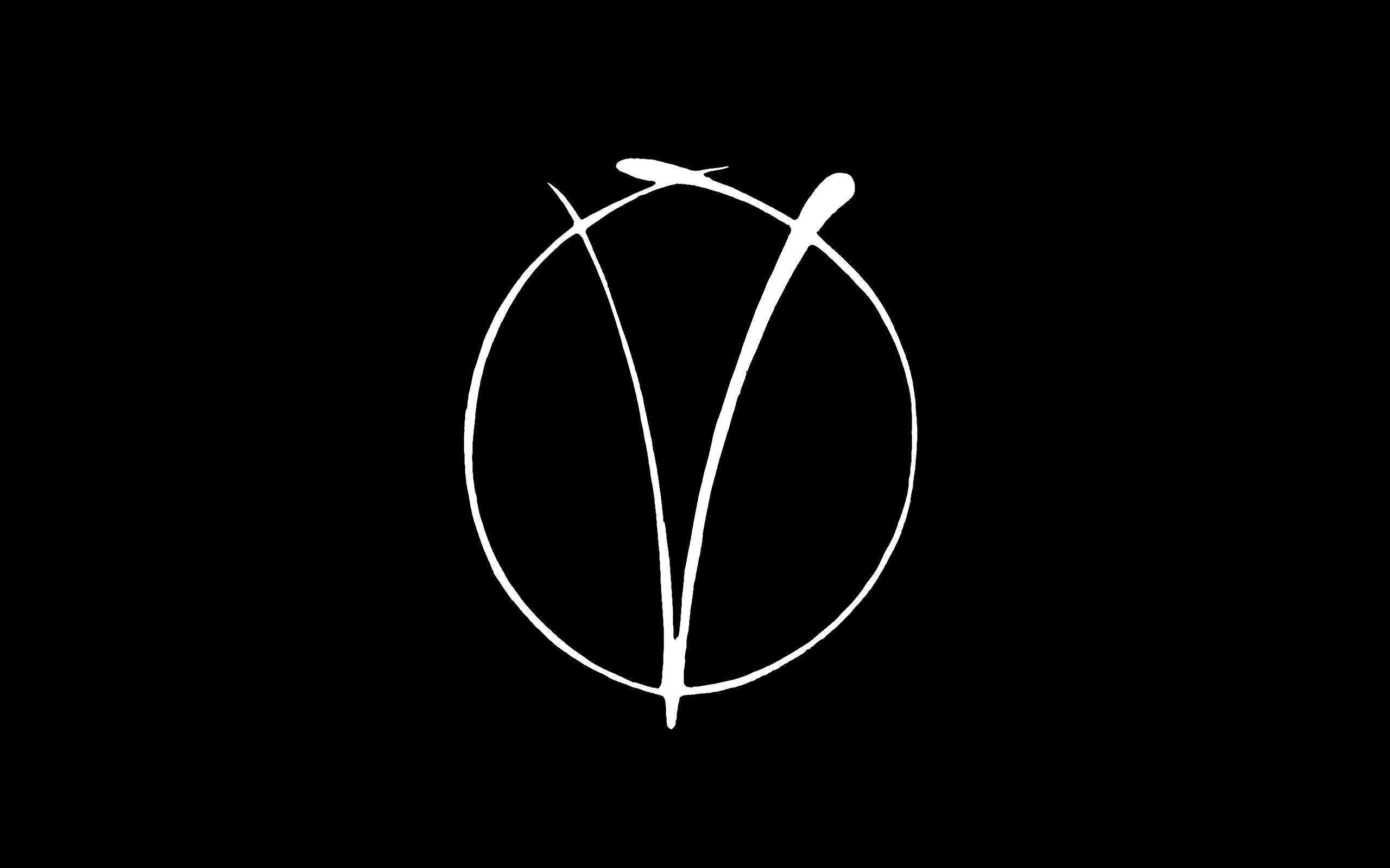 V For Vendetta Minimalism Black White Logo Movies Wallpapers