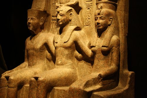 Amun, Ramesses II, & Mut