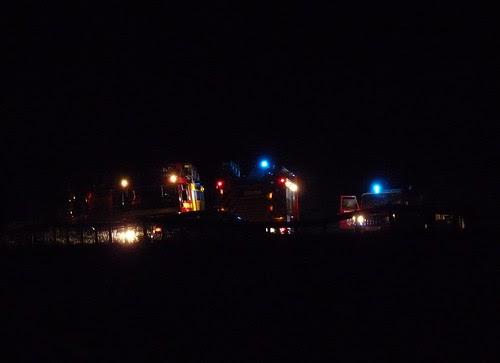 P1040104 - Grass fire at Llangennith, Gower