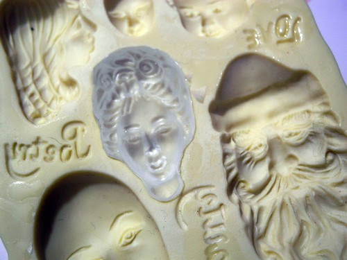 Molded lady face