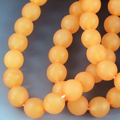 27808214-02 Glass - 8 mm Druks - Florida Orange Matte (strand 25)