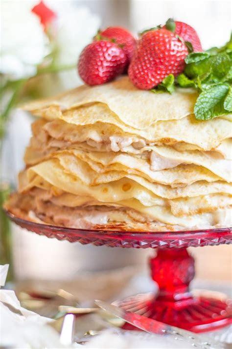 25 Layer Roasted Strawberry Crepe Cake   Crepe Cake Recipe