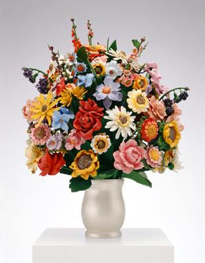 Jeff Koons Artwork Large Vase Of Flowers