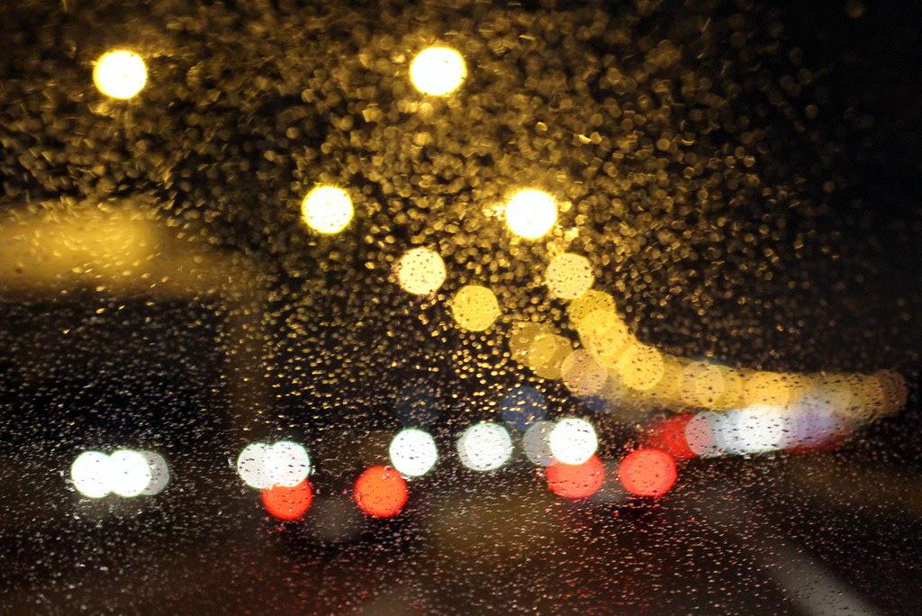 aguanieve en la autovía