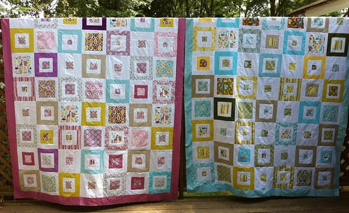 """His and Hers"" Central Park Quilt Tops"