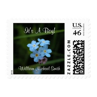Forget Me Nots It's A Boy! Small Postage Stamps stamp