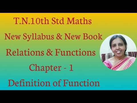 10th std Maths New Syllabus (T.N) 2019 - 2020 Relatoins & Functions (Definition of Function)