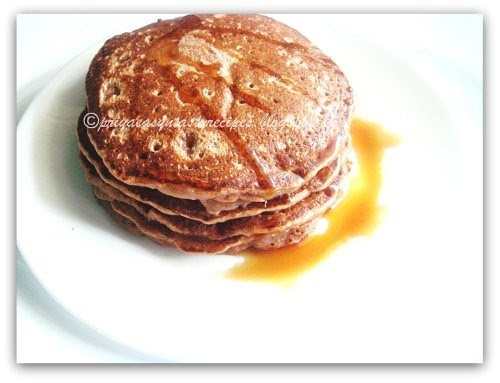 Chocolate Puffed Rice Wholewheat Pancakes