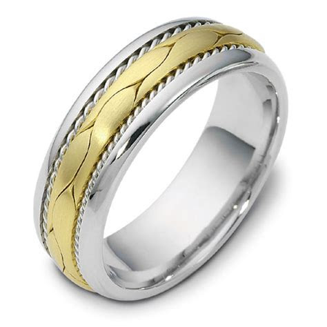 Men's Braided Two Tone Gold Band #314   Seattle Bellevue