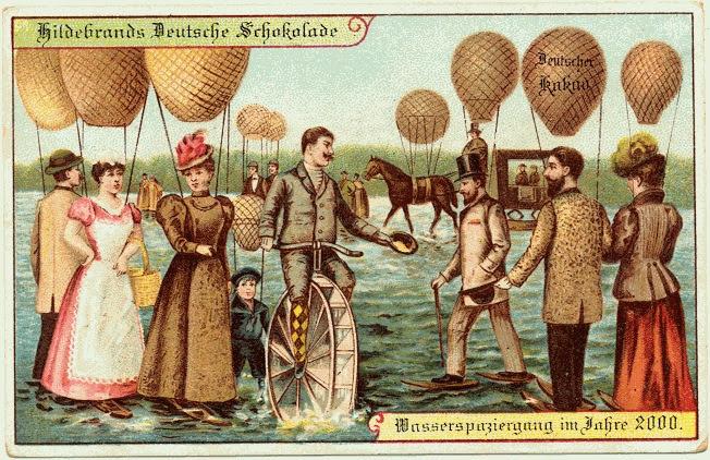 carte postale 2000 futur 01 En 1900, des cartes postales imaginent lan 2000  histoire featured design