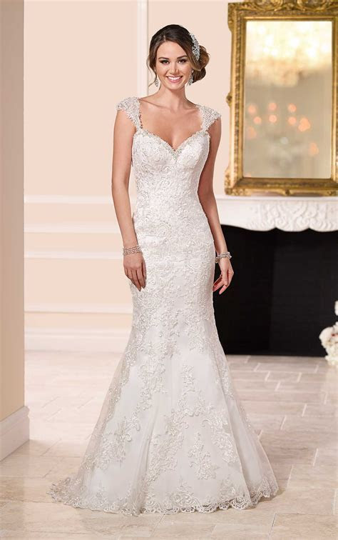Lace Over Satin Low Back Wedding Dresses   Stella York