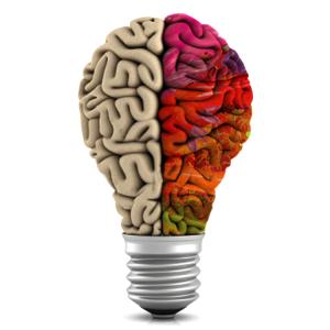 IMAGEM: Lâmpada em forma de cérebro