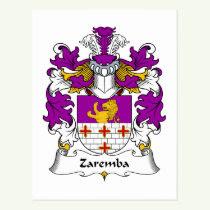 Zaremba Family Crest Postcard