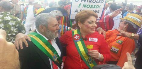 Dilma e Lula também marcam presença no Galo da Madrugada / Foto: Jornal do Commercio