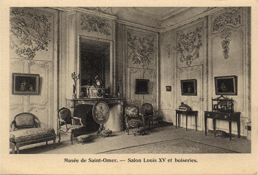 Mus E Sandelin H Un Salon D Poque Carte Postale