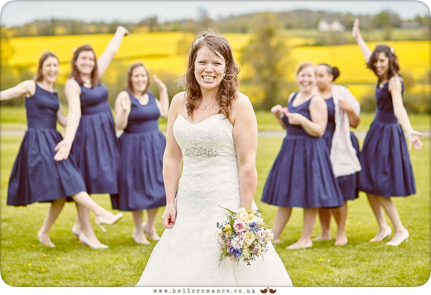 Bride with Bridesmaids - www.helloromance.co.uk