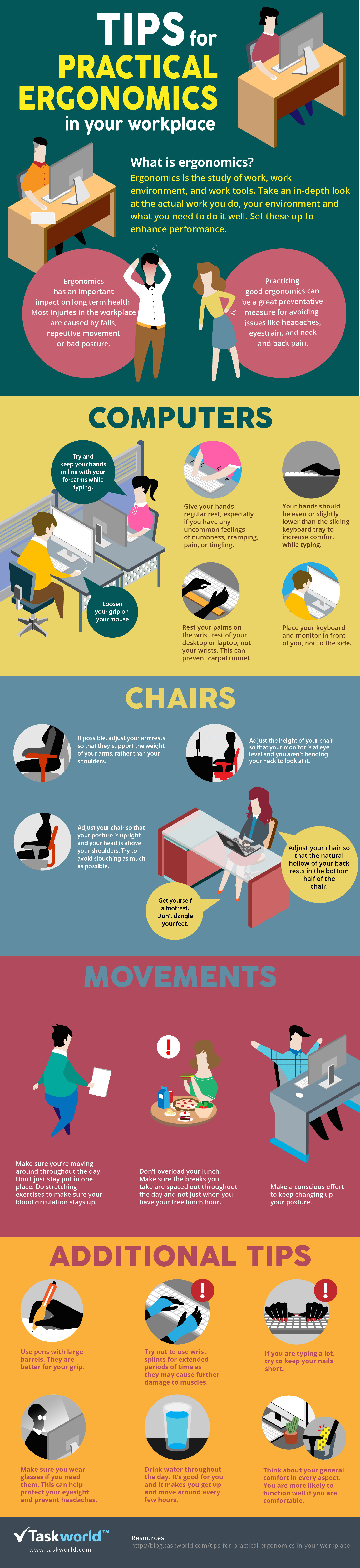 Infographic: Tips For Practical Ergonomics In Your Workplace #infographic