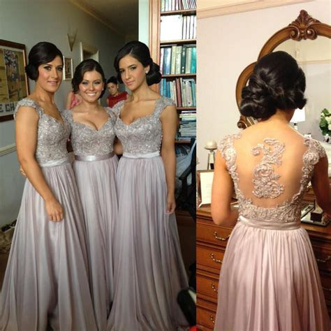 Sexy Luxury Bridesmaid Dresses Beaded Embroidery Sheer