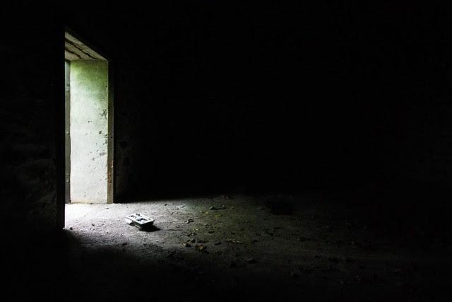 Light streaming through a doorway.