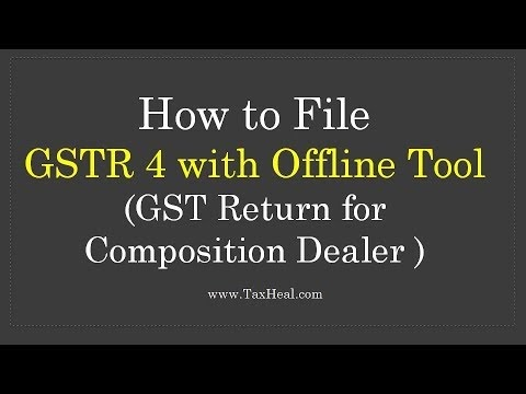 Goods and Service Tax in India: GSTR 4 Offline Utility