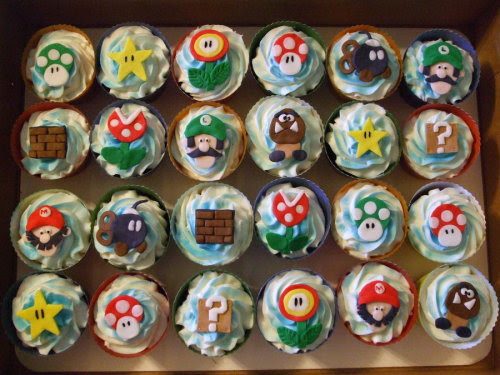Super Mario Bros. Cupcakes  Created by ArtsyLady