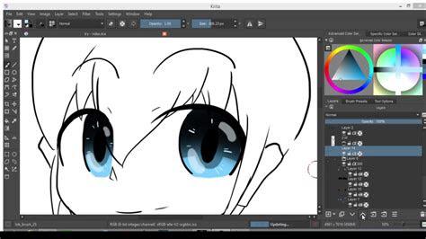 colors eyes  krita   tools check