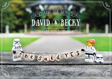 Save the Date   Printable and customisable   Star Wars