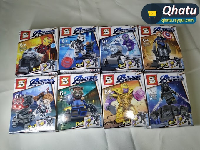 (Bs. 75) Combo Avengers 8 en 1 tipo Legos
