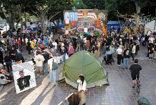 Occupy Los Angeles was forced out of its encampment on November 28, 2011. The eviction follows a pattern coordinated by the federal government to crush anti-capitalist demonstrations that have swept the country over the last two months. by Pan-African News Wire File Photos