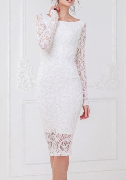 Websites houston bodycon dress sleeve lace long white day