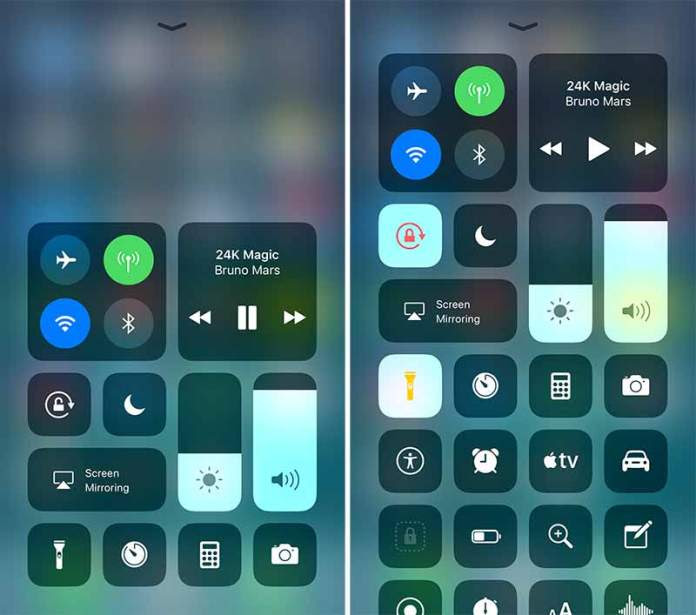 Control-Center-iOS-11 on android