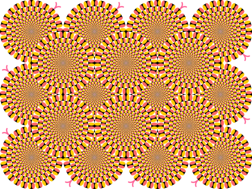Peripheral drift illusion rotating snakes
