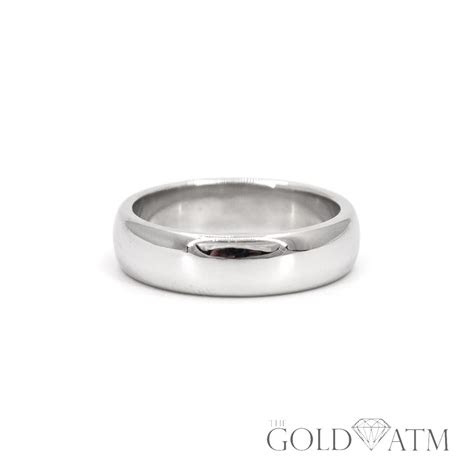 platinum tiffany  mens wedding band size