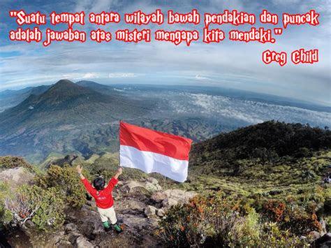 kata kata bijak mutiara pendaki gunung cayo indonesia